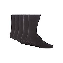Freshen Up Your Feet - Pack of five plain black socks
