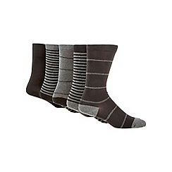 Freshen Up Your Feet - Pack of five black striped socks