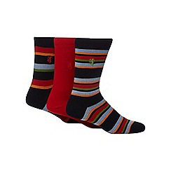 Pringle - Pack of three red striped socks
