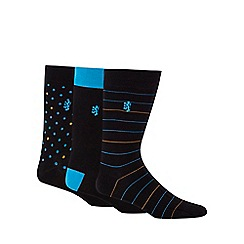 Pringle - Pack of three spot and stripe print socks