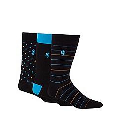 Pringle - Pack of three spot and stripe print socks