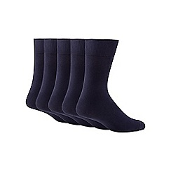 Freshen Up Your Feet - Set of five navy odour-free socks