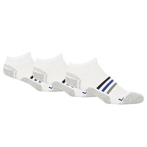 Debenhams Basics - Pack of three white and grey trainer length socks