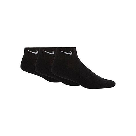 Nike - Nike pack of three black ribbed trainer socks