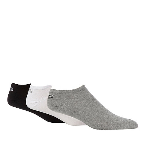 Puma - Pack of three cotton mix multi sneaker socks