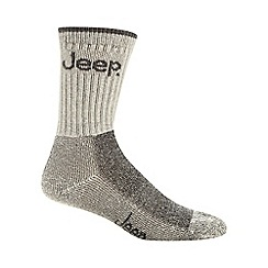 Jeep - Pack of three cream woven logo boot socks