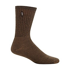 Jeep - Pack of three brown ribbed boot socks