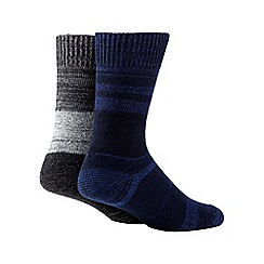 Mantaray - Pack of of two blue space dye boot socks