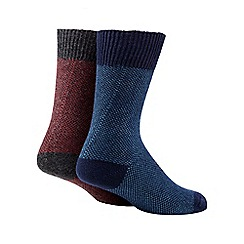 Mantaray - Pack of two multi-coloured cotton blend boot socks