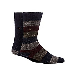 Mantaray - Pack of two multi-coloured knitted socks