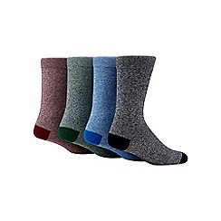 Red Herring - Pack of four multi-coloured marled socks