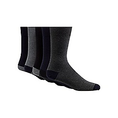 Freshen Up Your Feet - Pack of five multi-coloured cotton blend socks