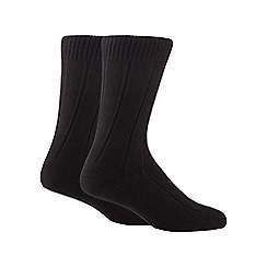 Maine New England - Pack of two black merino wool blend short socks
