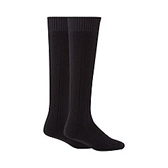 Maine New England - Black long thermal socks