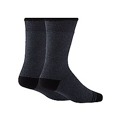 Maine New England - Pack of two grey thermal socks