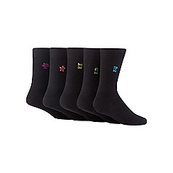 Freshen Up Your Feet - Pack of five black cotton blend socks