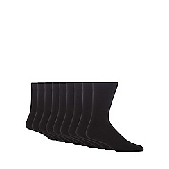 Debenhams - Pack of ten plain black socks