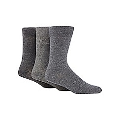 RJR.John Rocha - Pack of three grey long socks