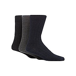 RJR.John Rocha - Pack of three assorted textured chevron socks