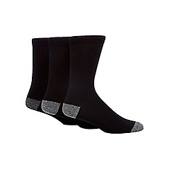 RJR.John Rocha - Pack of three black comfort seam socks