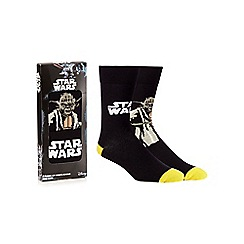 Star Wars - Pack of two black 'Star Wars' socks in a gift box