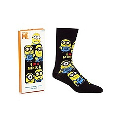 Despicable Me - Black 'Minion' socks in a gift box