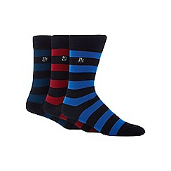 Hammond & Co. by Patrick Grant - Pack of three assorted rugby striped bamboo rich socks