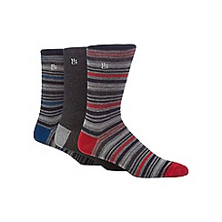 Hammond & Co. by Patrick Grant - Pack of three blue stripe socks