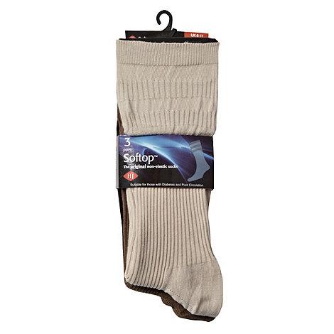 H.J.Hall - Pack of three +Softop+ socks