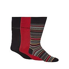 Calvin Klein - Pack of three red stripe socks