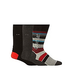 Calvin Klein - Pack of three multi-coloured assorted socks