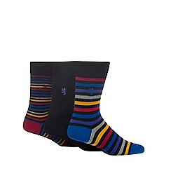 Pringle - Pack of three multi-coloured striped socks