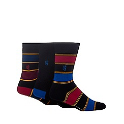 Pringle - Pack of three navy striped socks