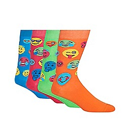Red Herring - Pack of four multicoloured face socks