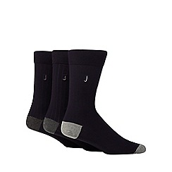 J by Jasper Conran - 3 pack navy socks