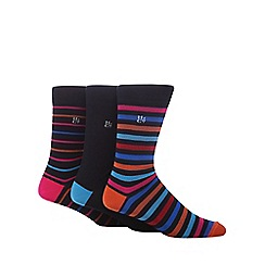 Hammond & Co. by Patrick Grant - Pack of three assorted striped and plain socks