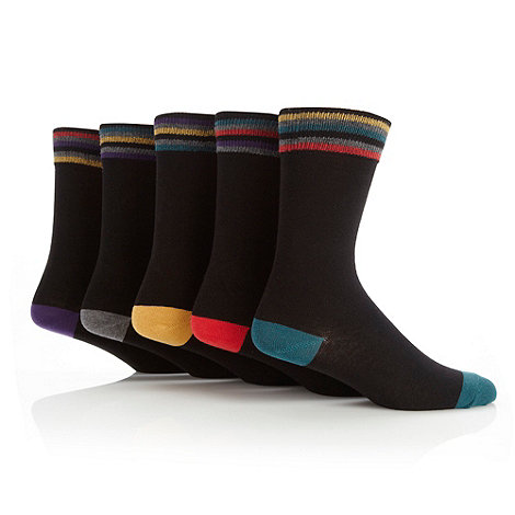 Freshen Up Your Feet - Pack of five black colour toe socks