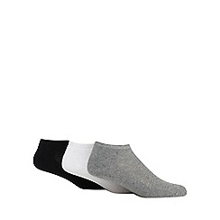 Debenhams Sports - Pack of three assorted trainer socks