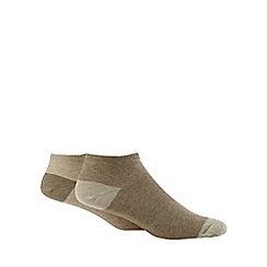 Debenhams Sports - Pack of two cream trainer socks