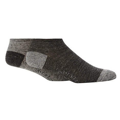 Mantaray - Pack of two grey logo trainer socks