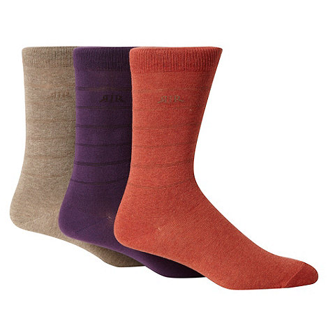 RJR.John Rocha - Designer pack of three designer fine stripe clustered socks