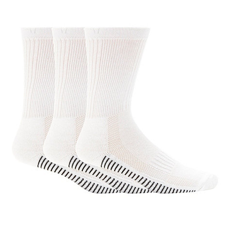 Debenhams Basics - Pack of three white striped sports socks