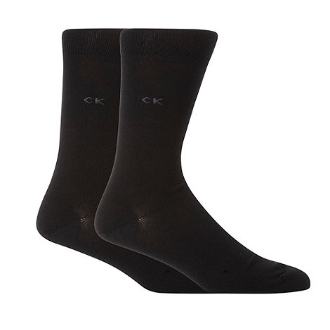 Calvin Klein - Pack of two black plain socks