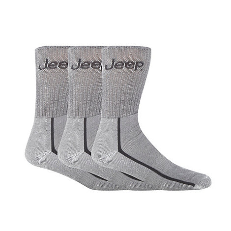 Jeep - Pack of three grey boot socks