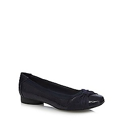 Good for the Sole - Navy 'Gabs' wide fit pumps