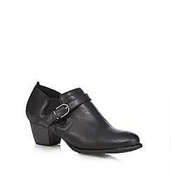 Good for the Sole - Black 'Goda' mid wide fit shoe boots