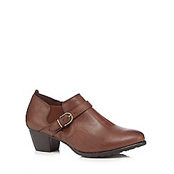 Good for the Sole - Tan 'Goda' mid wide fit shoe boots