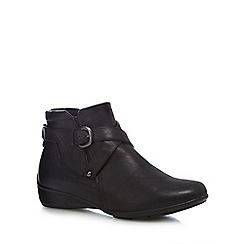 Good for the Sole - Black 'Genna' wide fit ankle boots