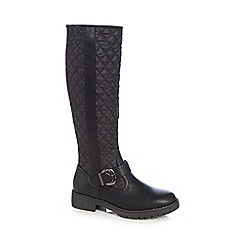 Good for the Sole - Black 'Guilty' wide fit calf boots