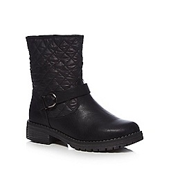 Good for the Sole - Black 'Guilt' wide fit ankle boots
